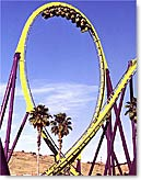 Medusa Roller Coaster Vertical Loop
